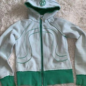 Lululemon scuba thick full zip jacket green s